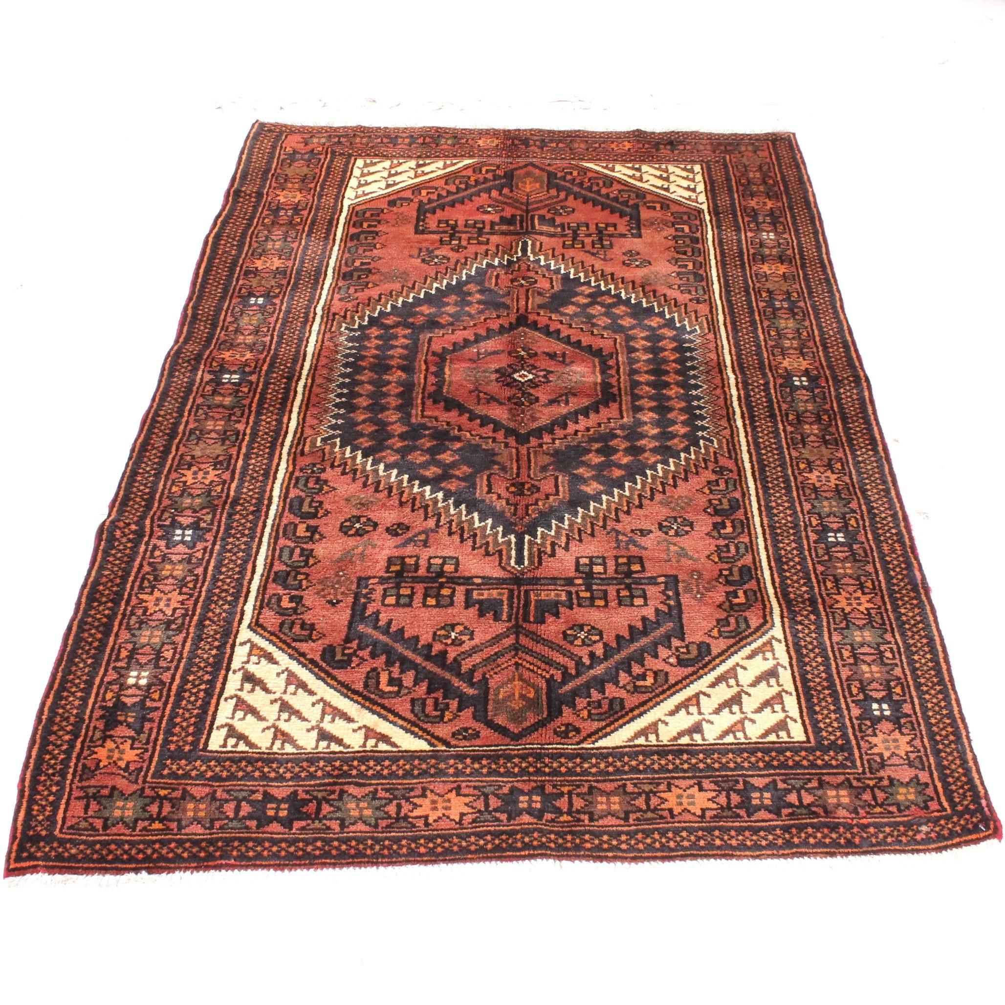 4' x 7' Fine Hand-Knotted Persian Zanjan Rug