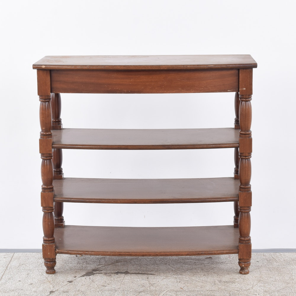 Vintage Shelved Console Table