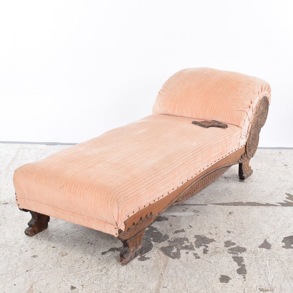 Victorian Style Méridienne Chaise Lounge