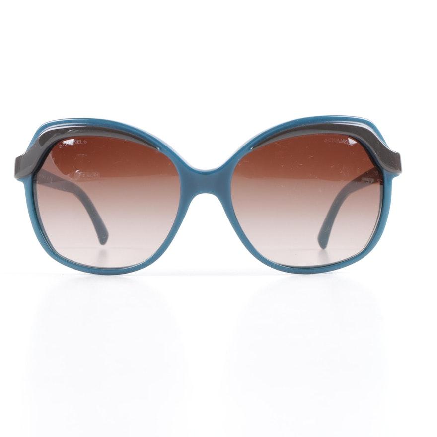 ccd9da9a45 Chanel Blue Butterfly Sunglasses   EBTH