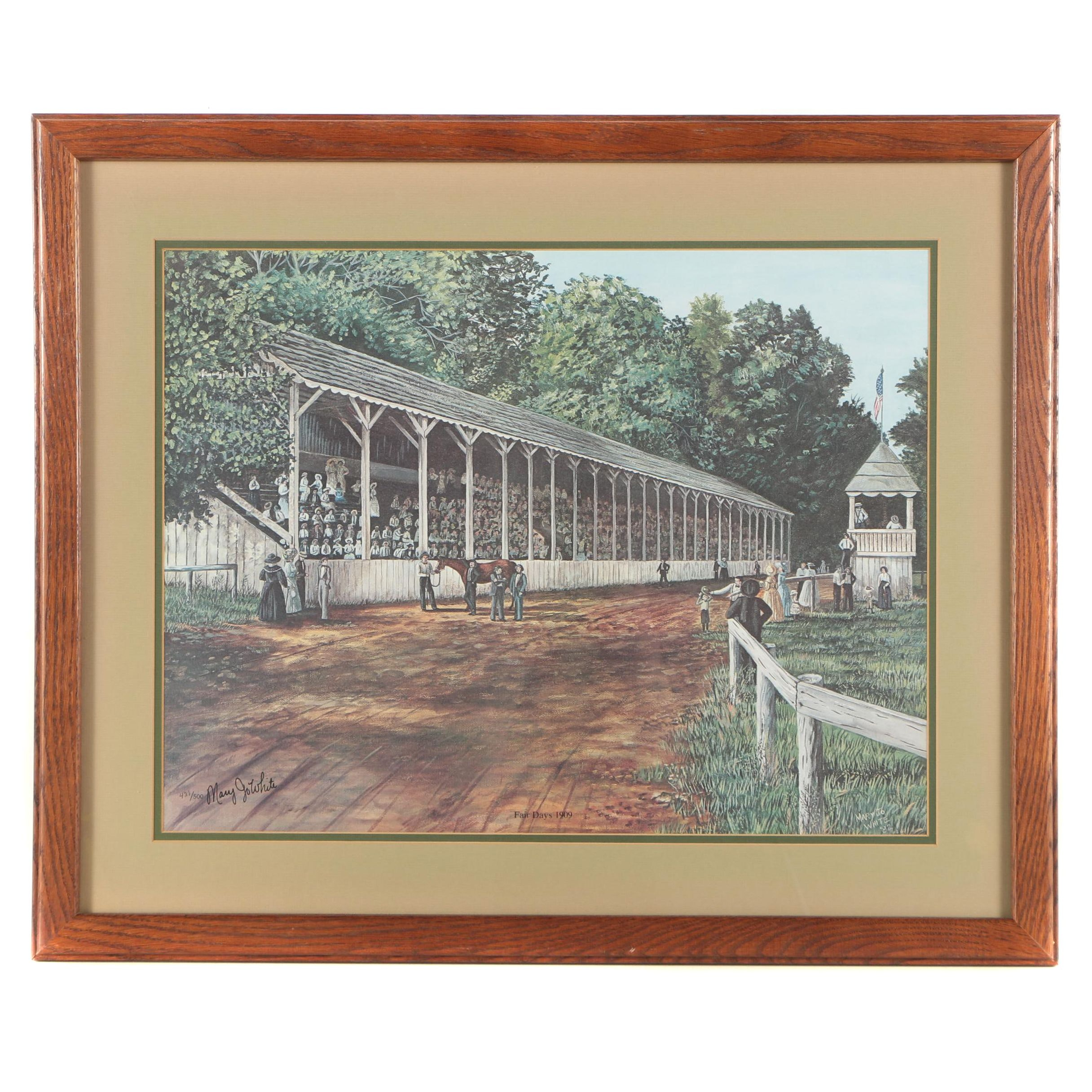 "Mary Joe White Limited Edition Offset Lithograph ""Fair Days 1909"""