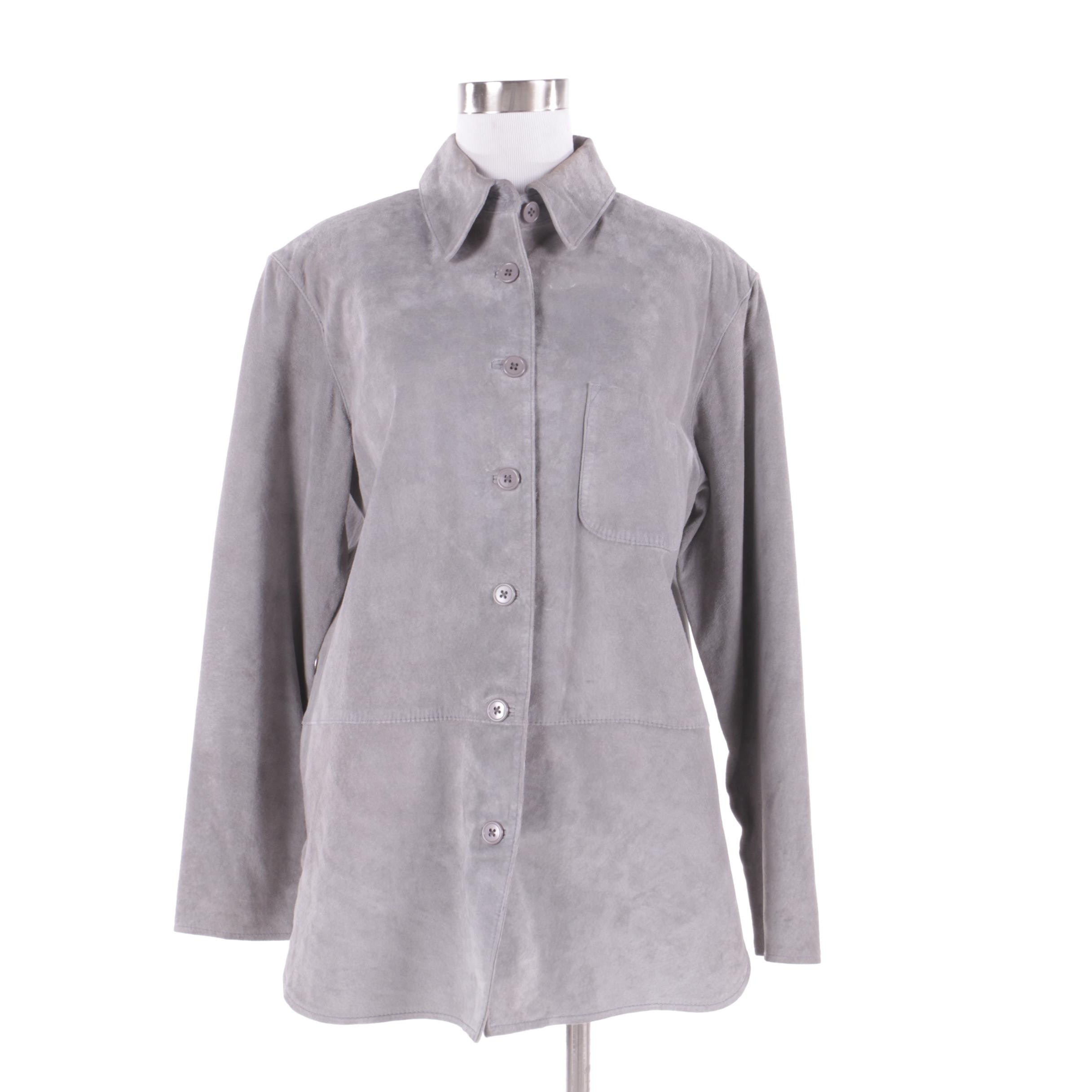 Women's Willi Smith Grey Suede Jacket
