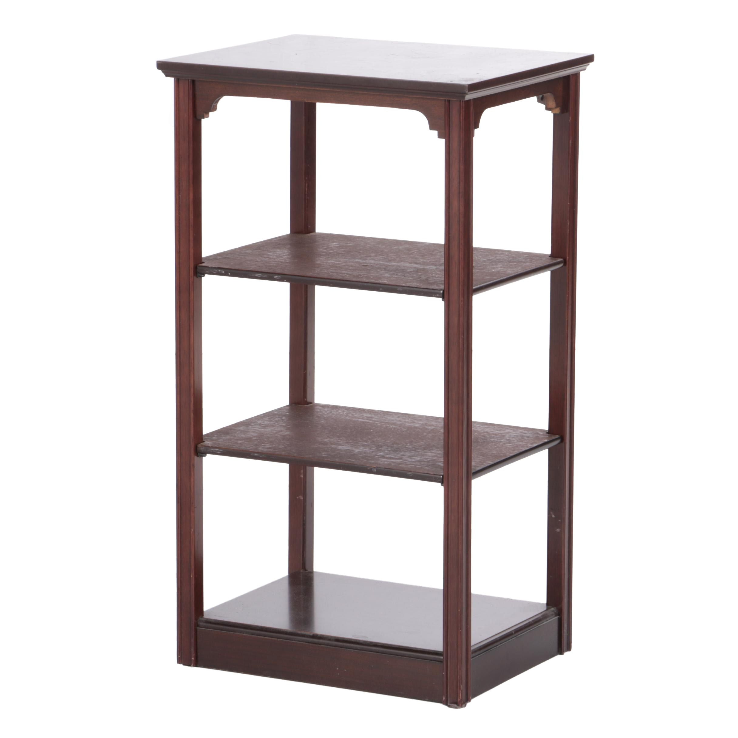 The Bombay Company Wood Side Table with Shelves