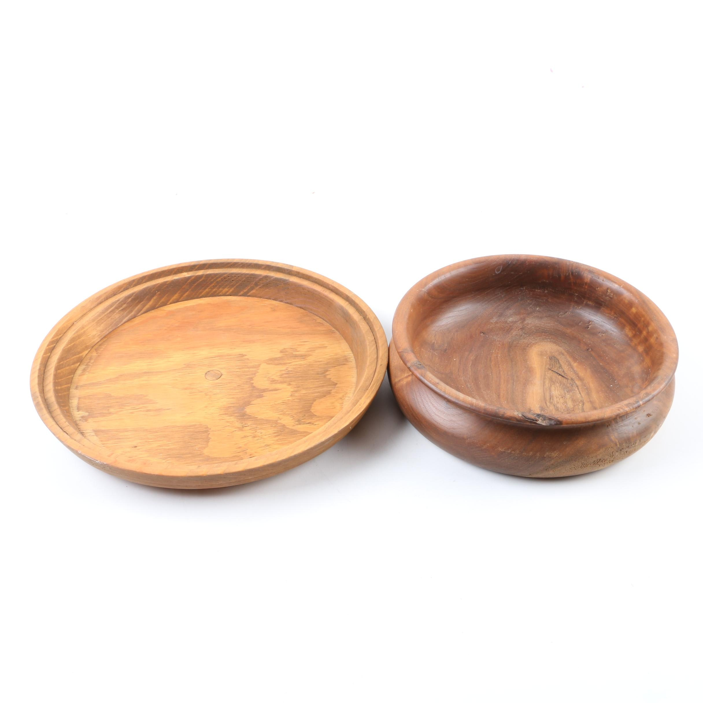 Wooden Bowl and Tray
