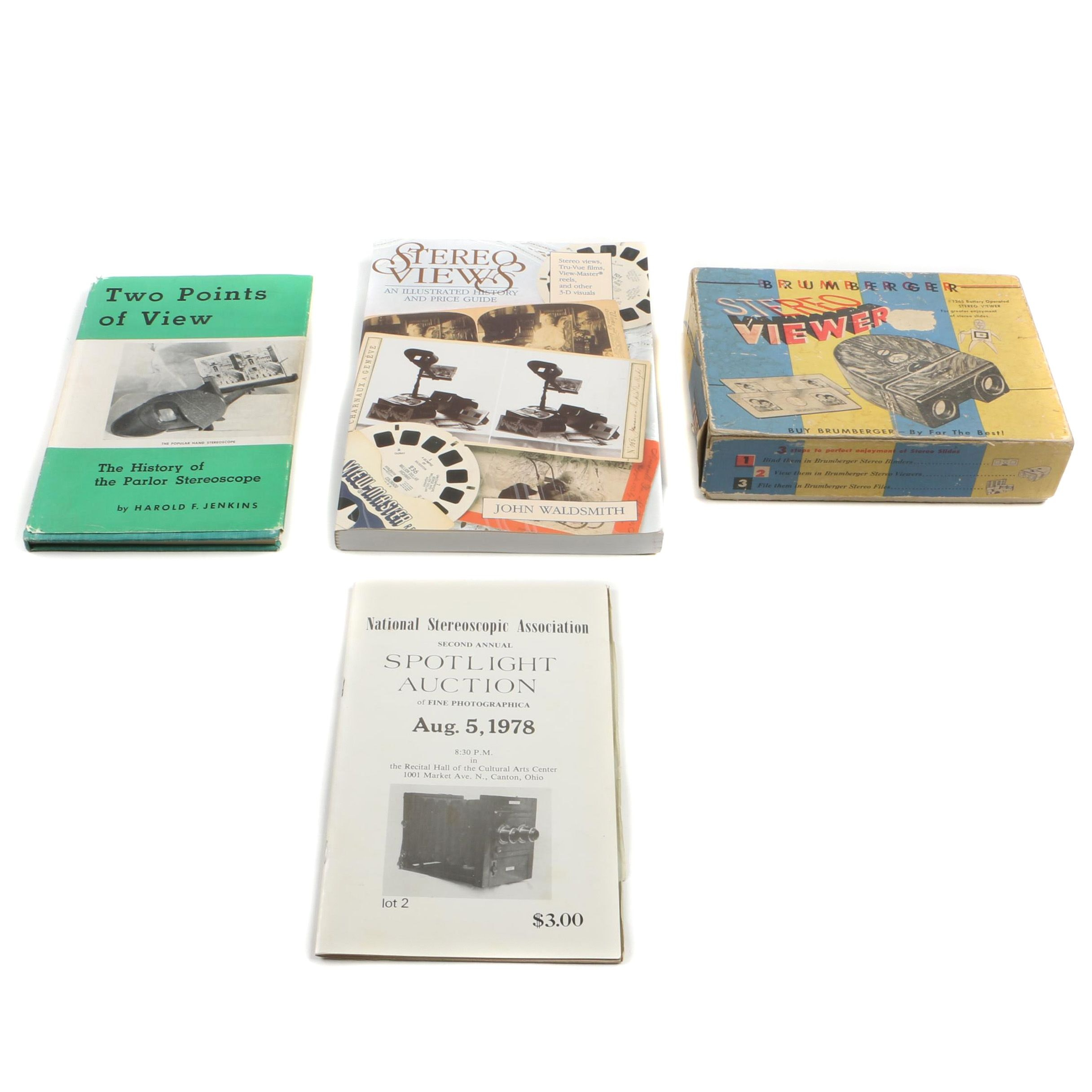 Stereoscope Books and Brumberger Viewer