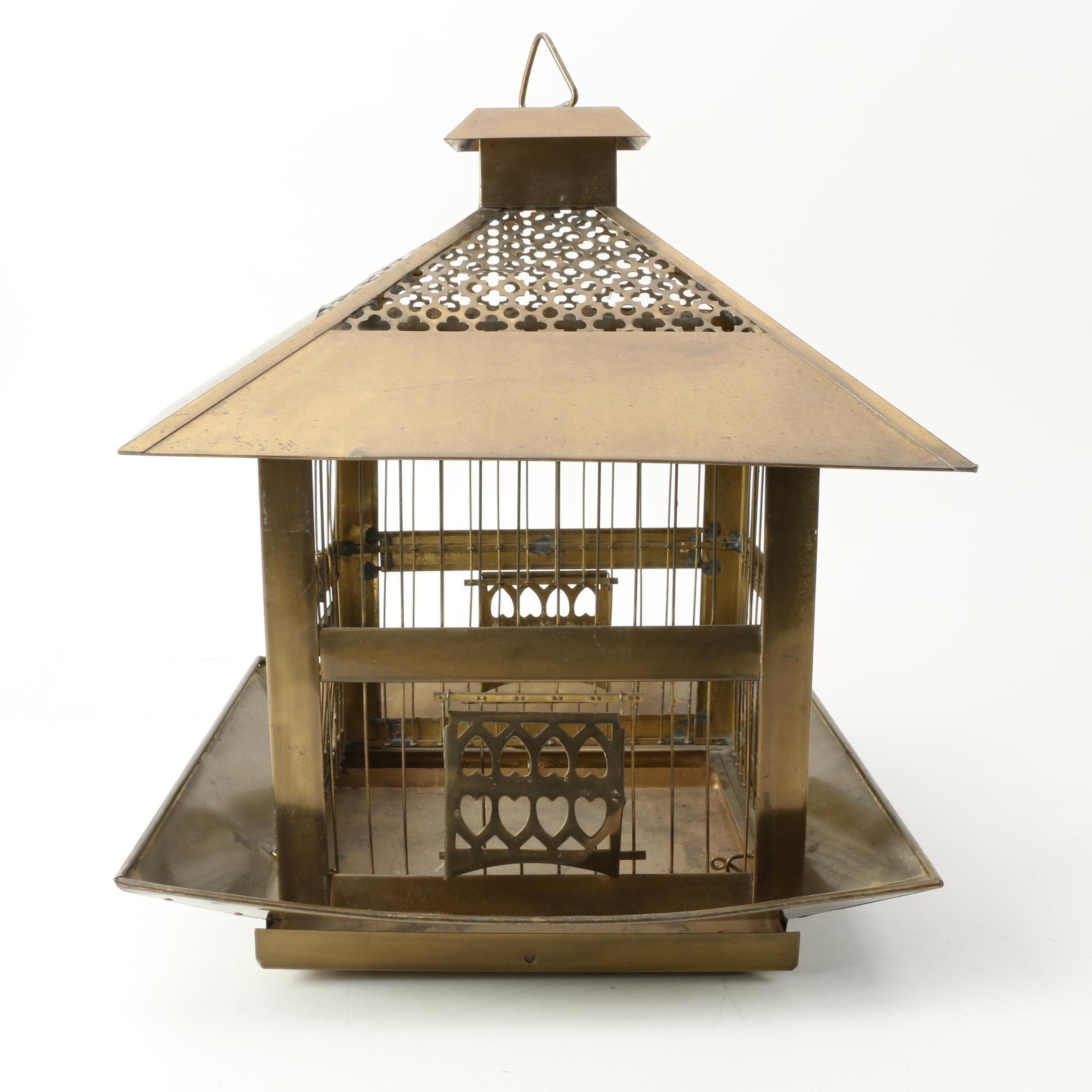 Vintage Hendryx Brass Birdcage