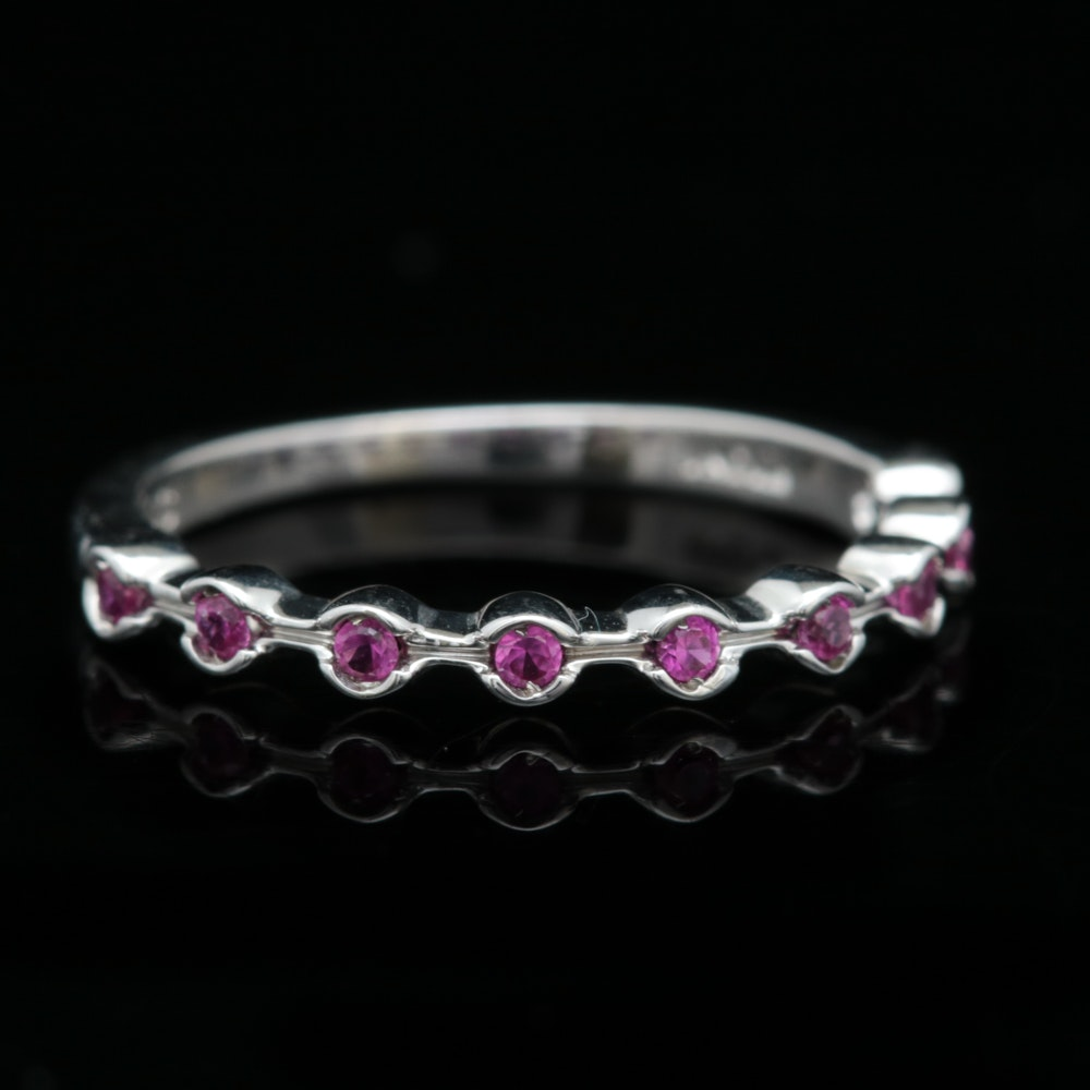 Sterling Silver and Ruby Ring