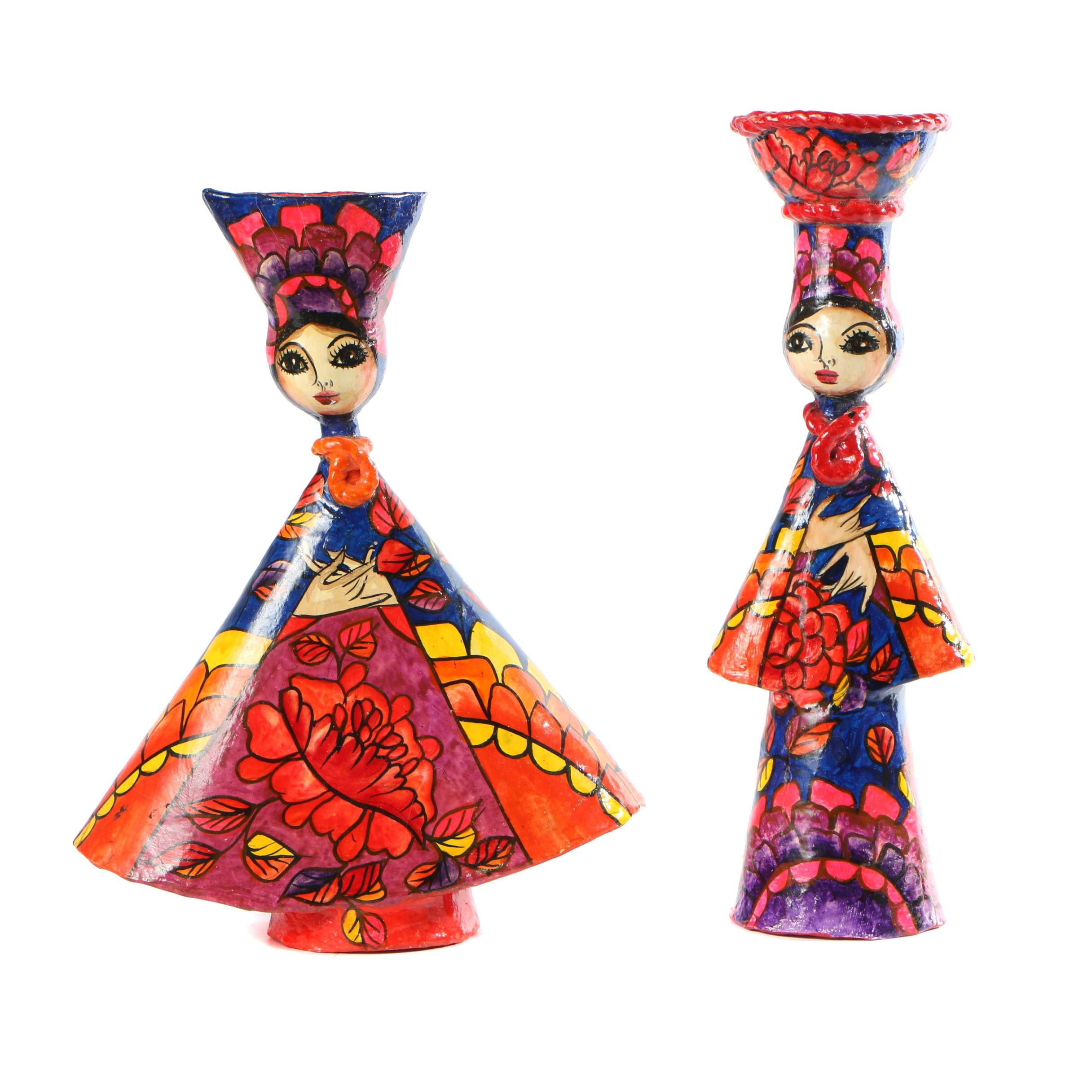 Abelardo Ruiz Mexican Papier-mâché Dolls