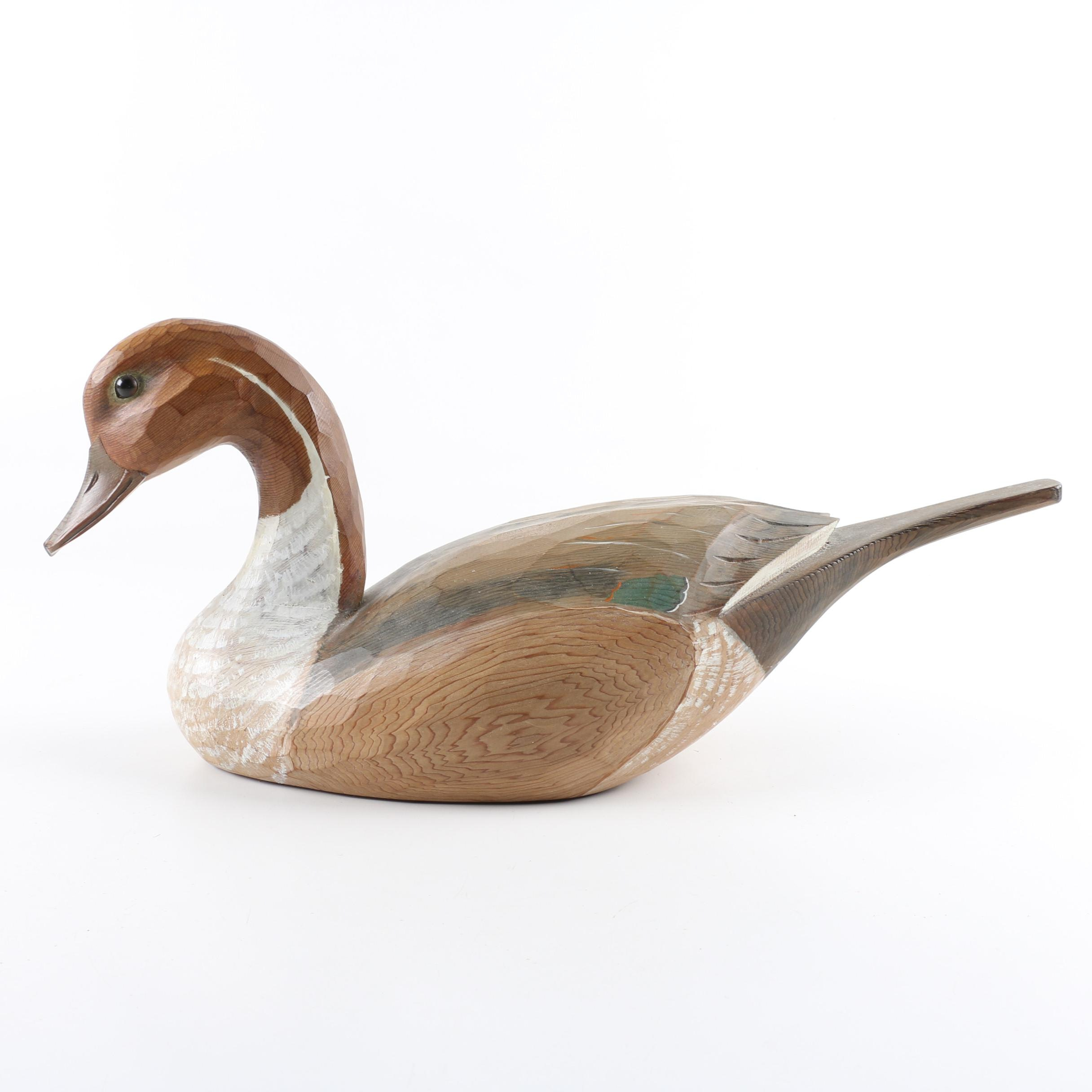 P.G. Bicknell Vintage Pintail Duck Decoy
