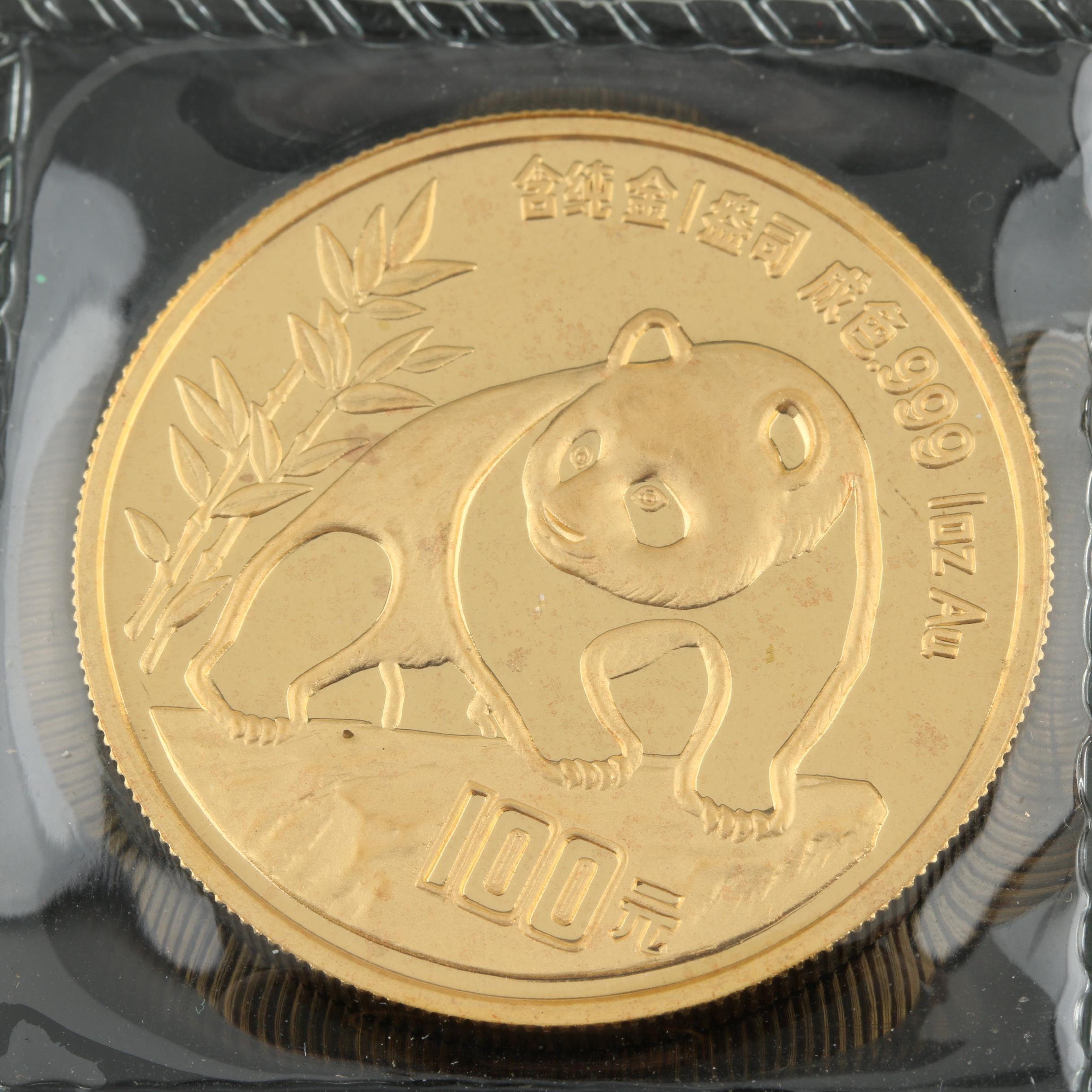 1990 100 Yuan Chinese 1 Oz. Gold Panda