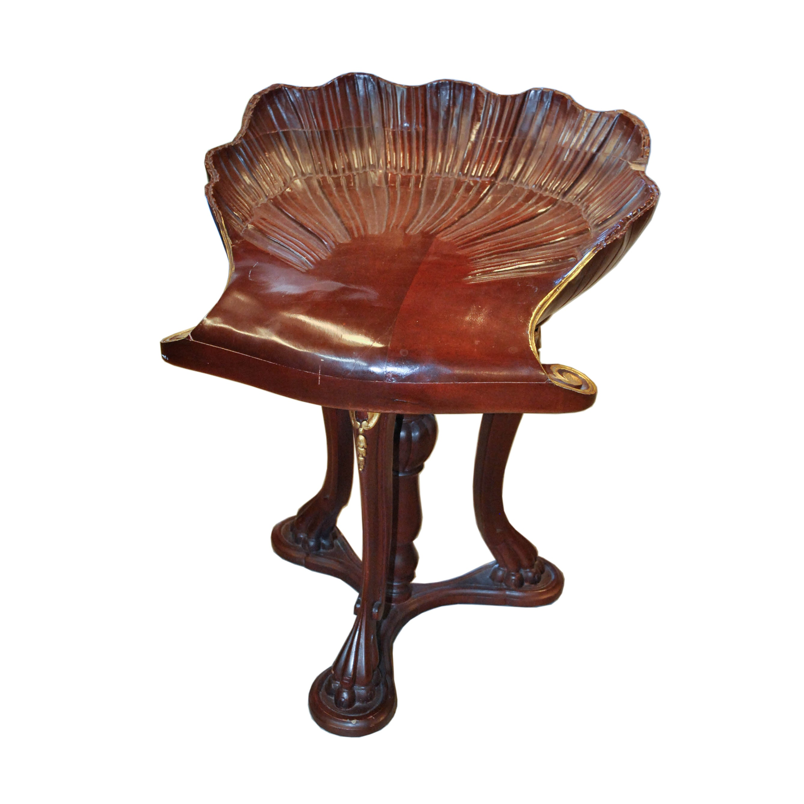 Vintage Empire Style Grotto Clamshell Chair ...