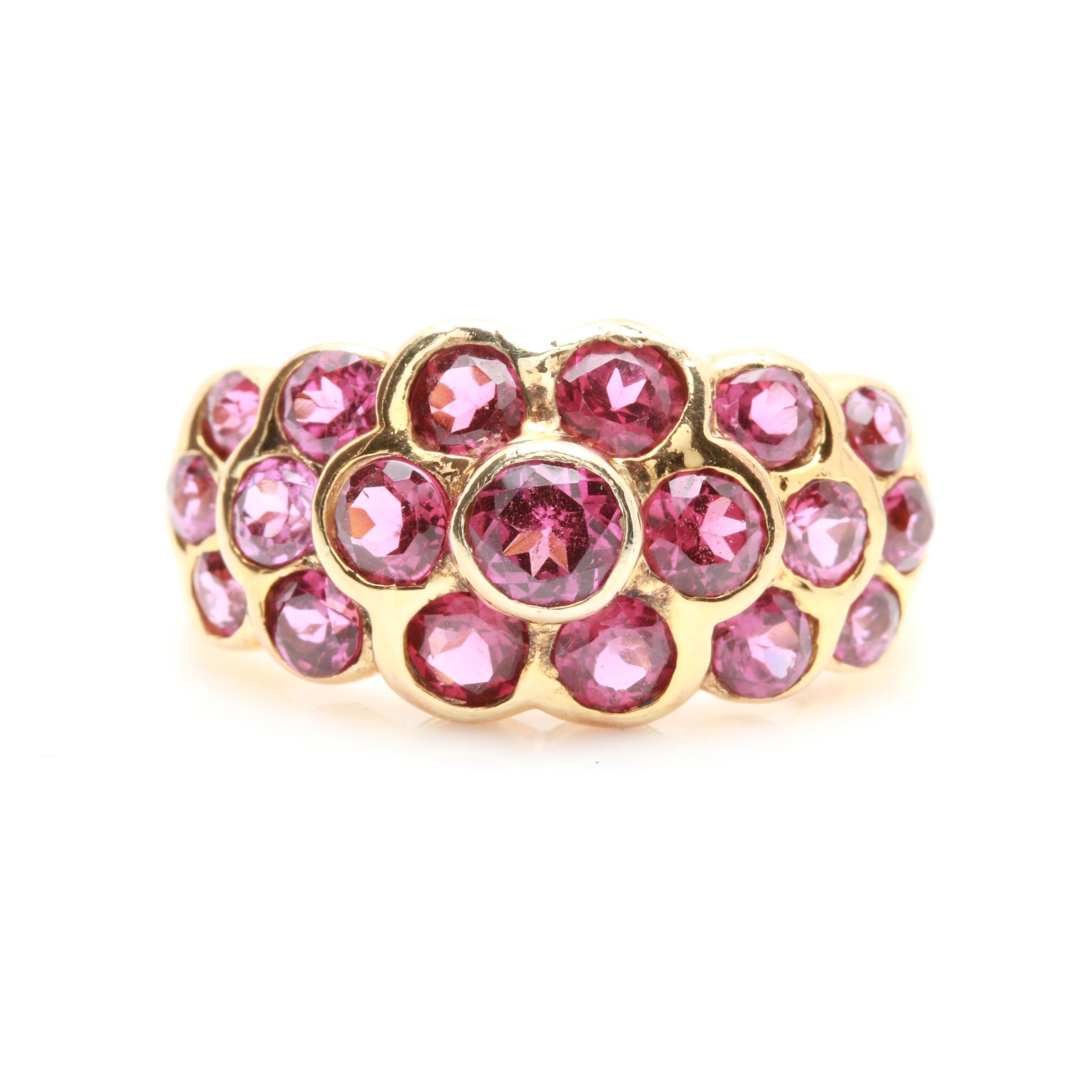 Sterling Silver Rhodolite Garnet Ring