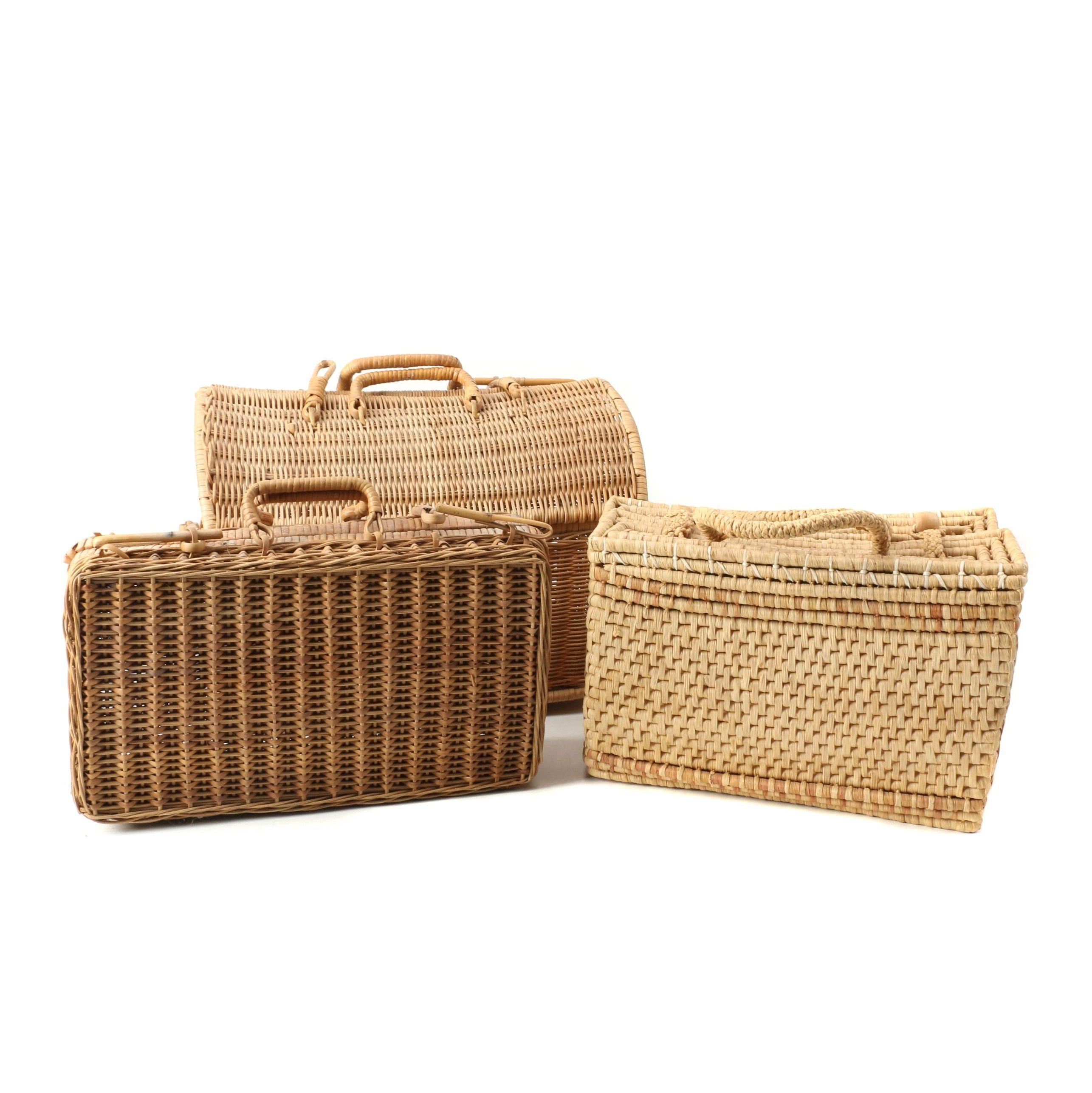 Woven Handled Picnic Baskets