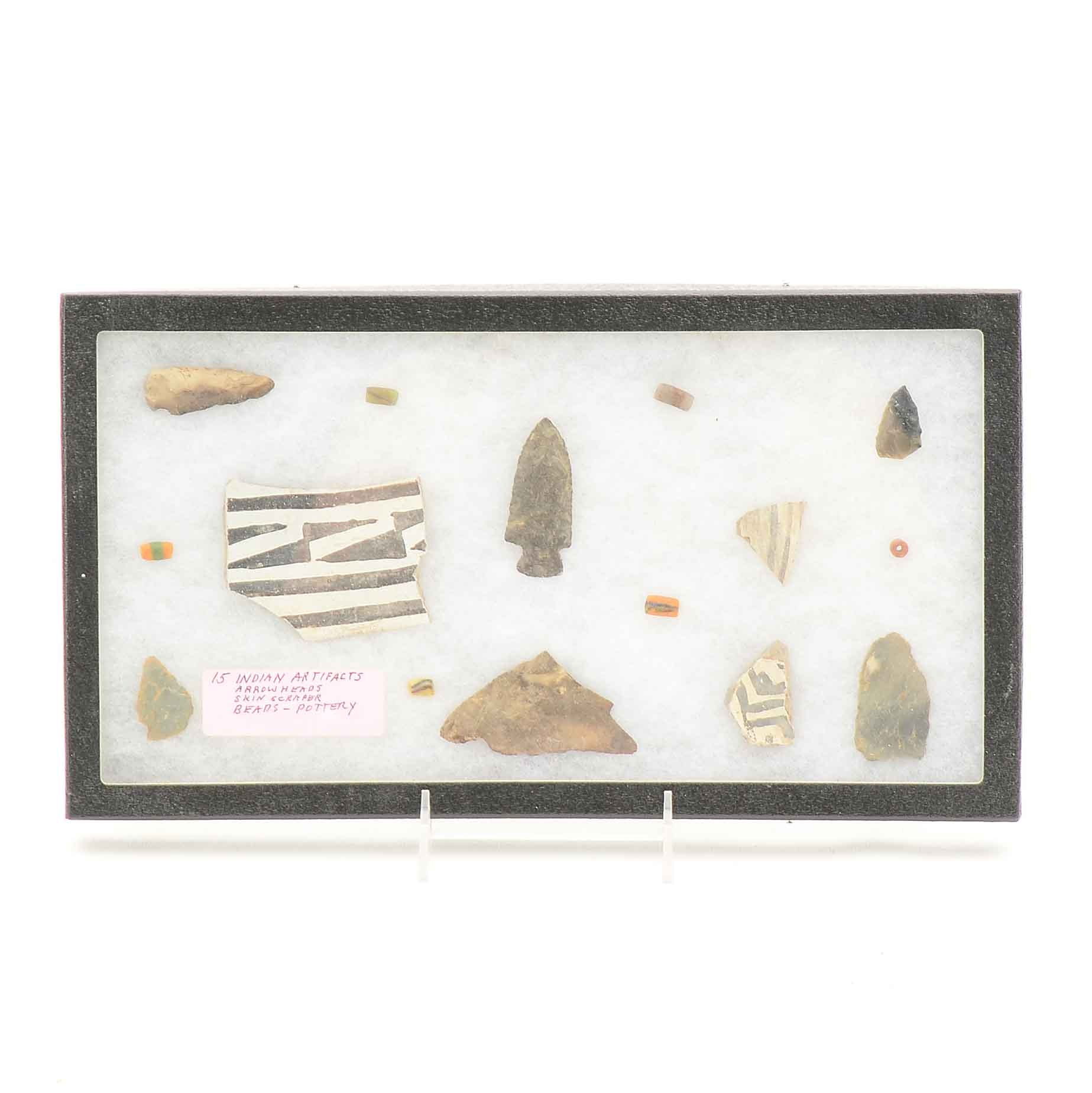 Collection of Native American Lithic and Ceramic Artifacts