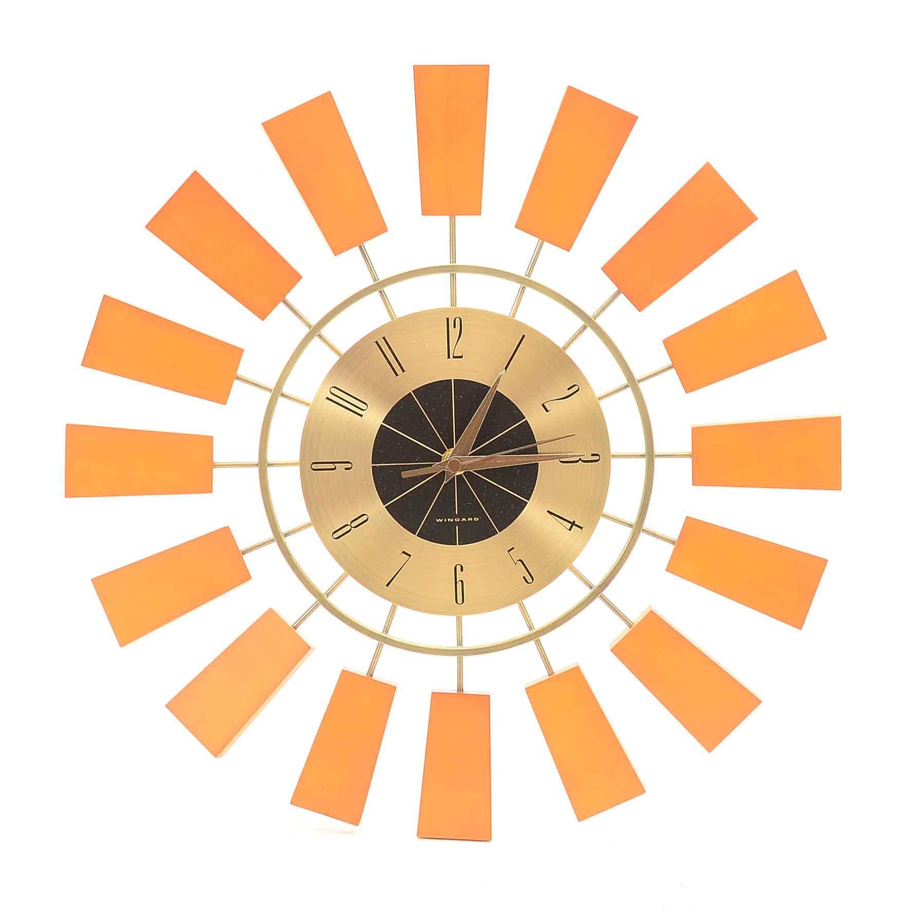 Wingard Sunburst Wall Clock