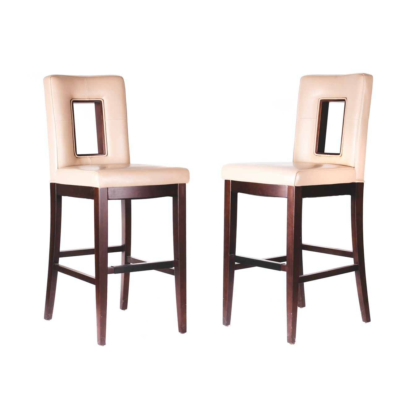 Zhe Jang Furniture Contemporary Style Leather Barstools