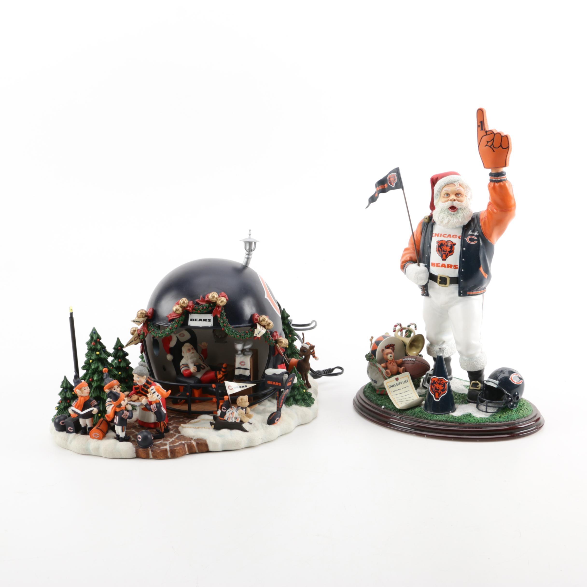 Chicago Bears Christmas Decor by Danbury Mint