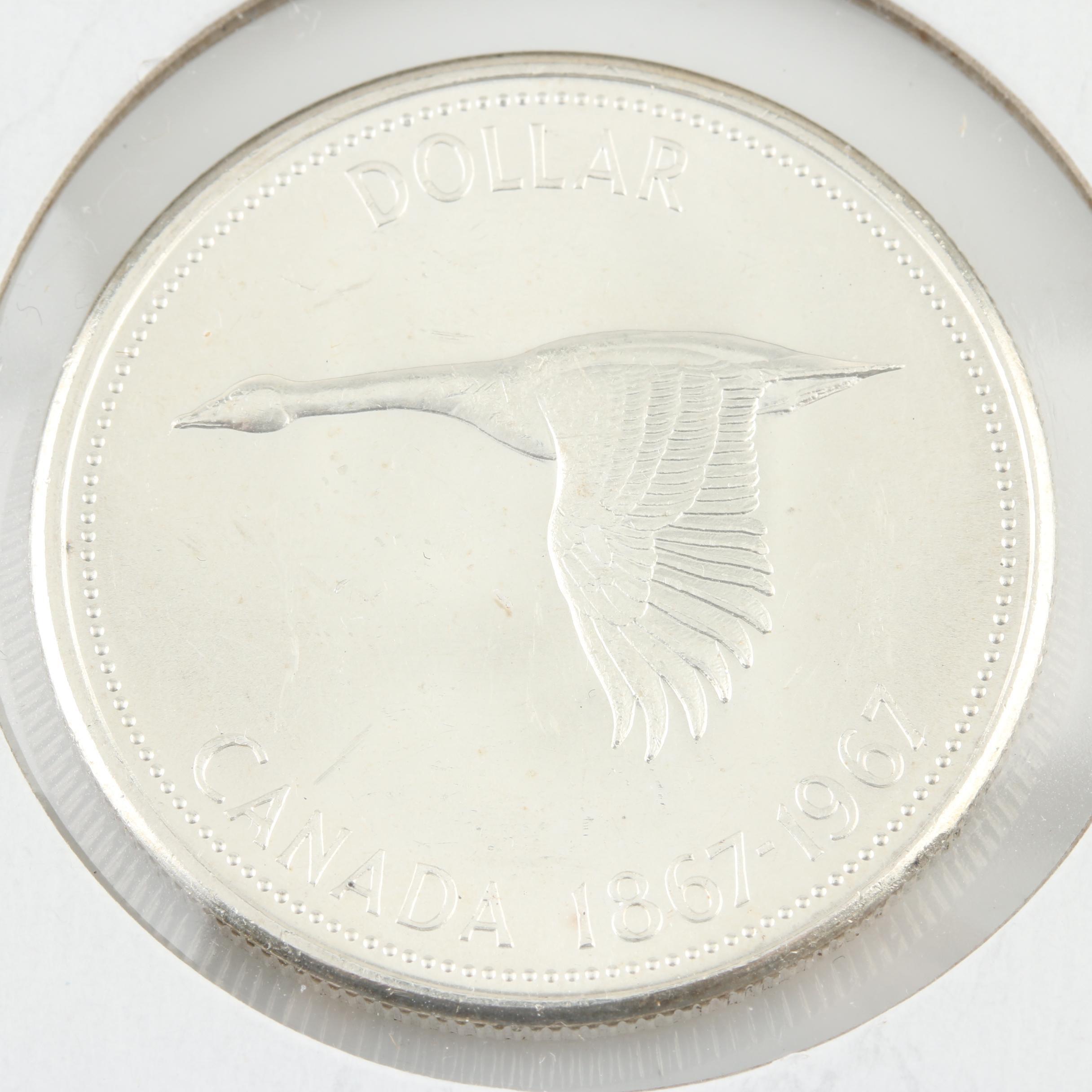 1967 Canadian Silver Dollar (100 Year commemorative)