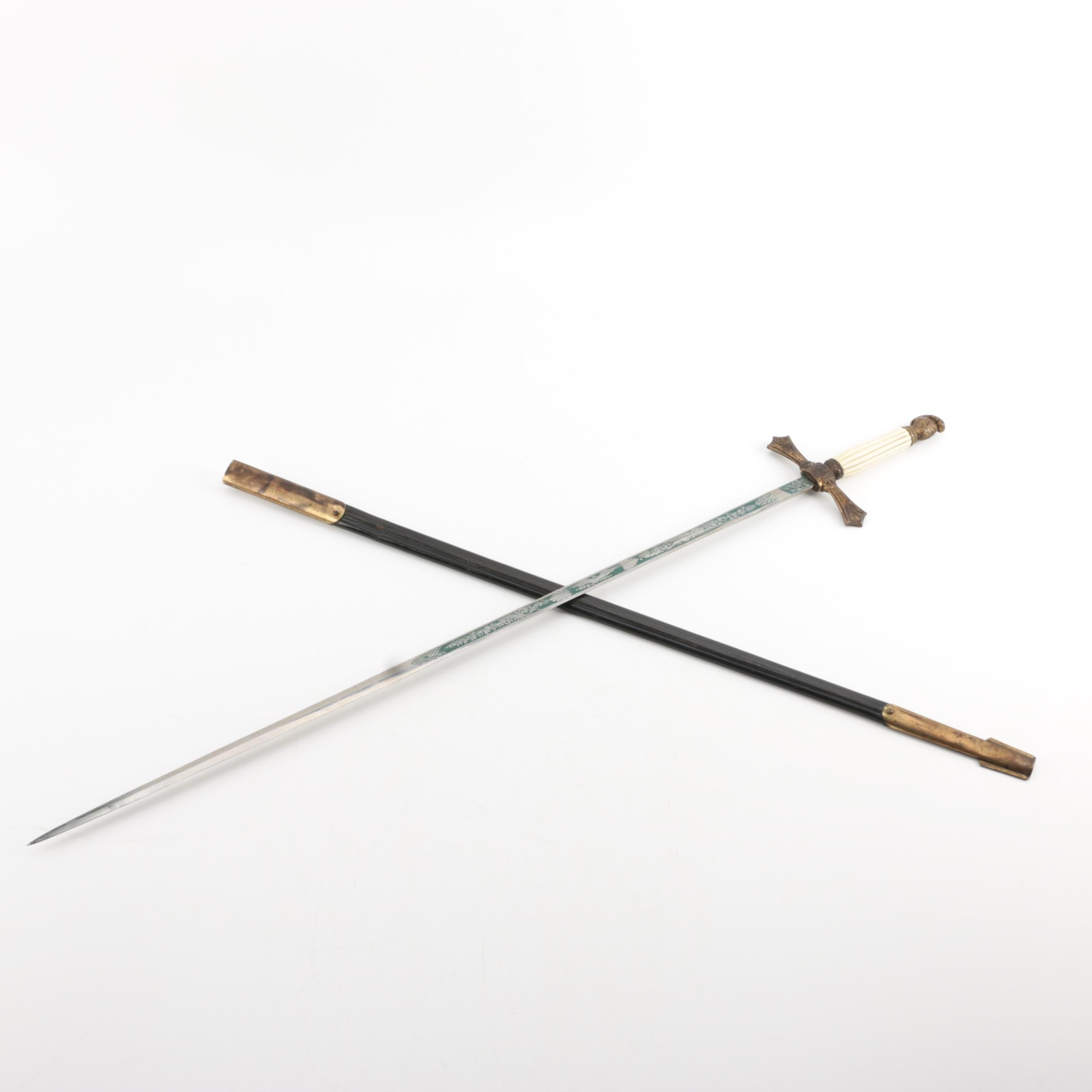 1915 Named Knights of Columbus Presentation Sword by H.V. Allien with Scabbard