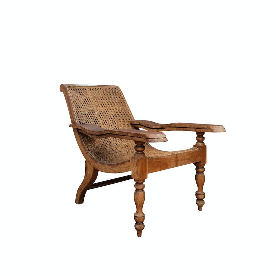 Antique British Colonial Style Teak Plantation Chair ... - Antique British Colonial Style Teak Plantation Chair : EBTH