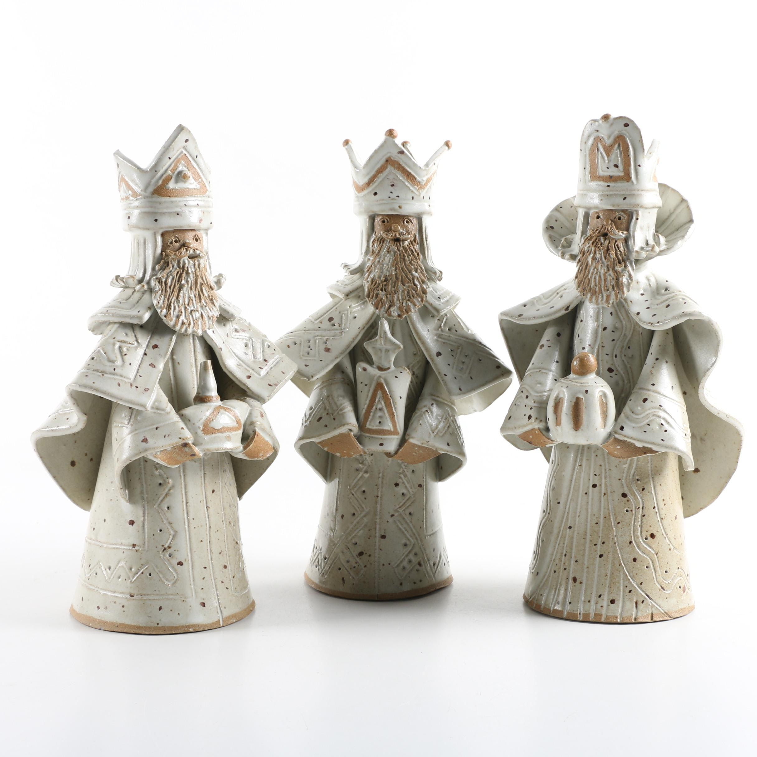 Three Kings Ceramic Figurines by Olly