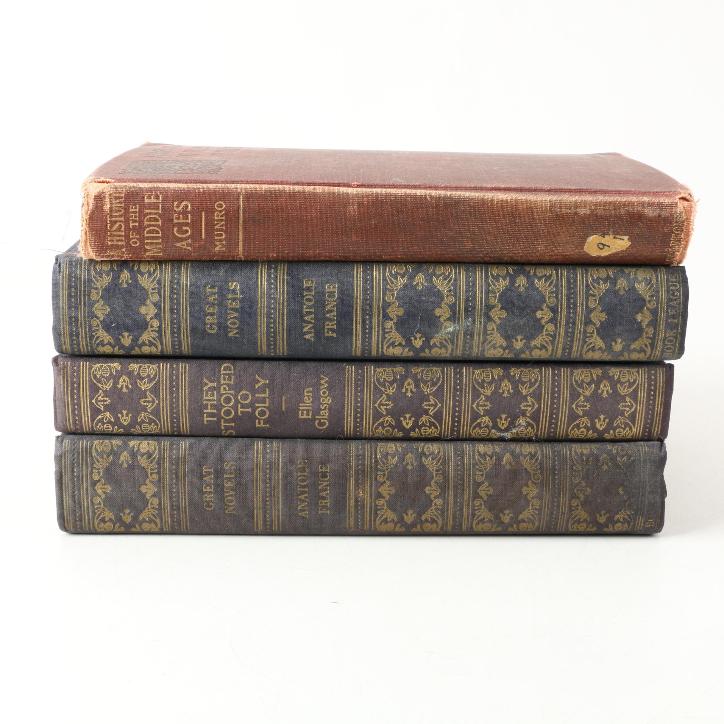 "Vintage Books Including 1918 ""Great Novels of Anatole France"""