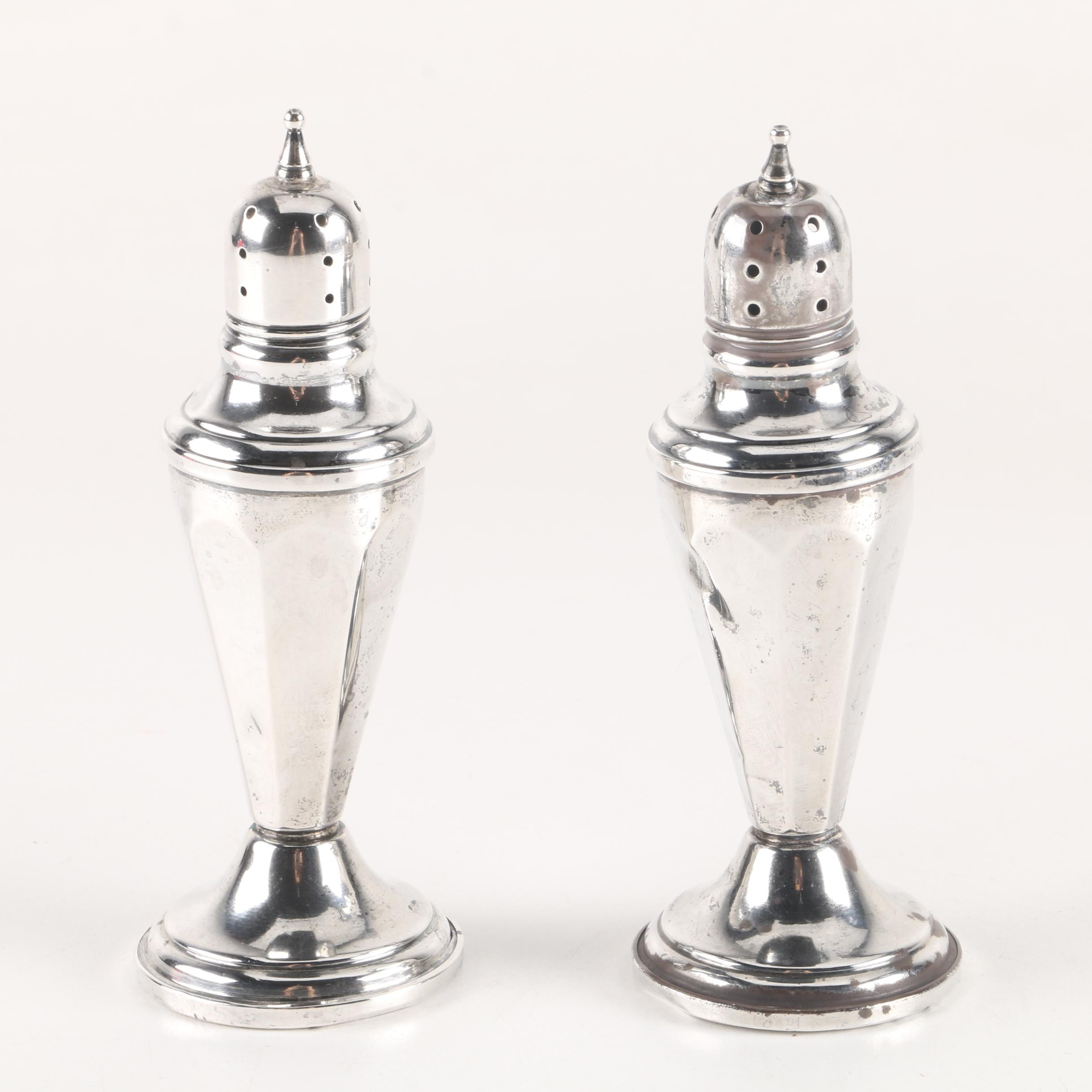 Elgin Weighted Sterling Salt and Pepper Shakers
