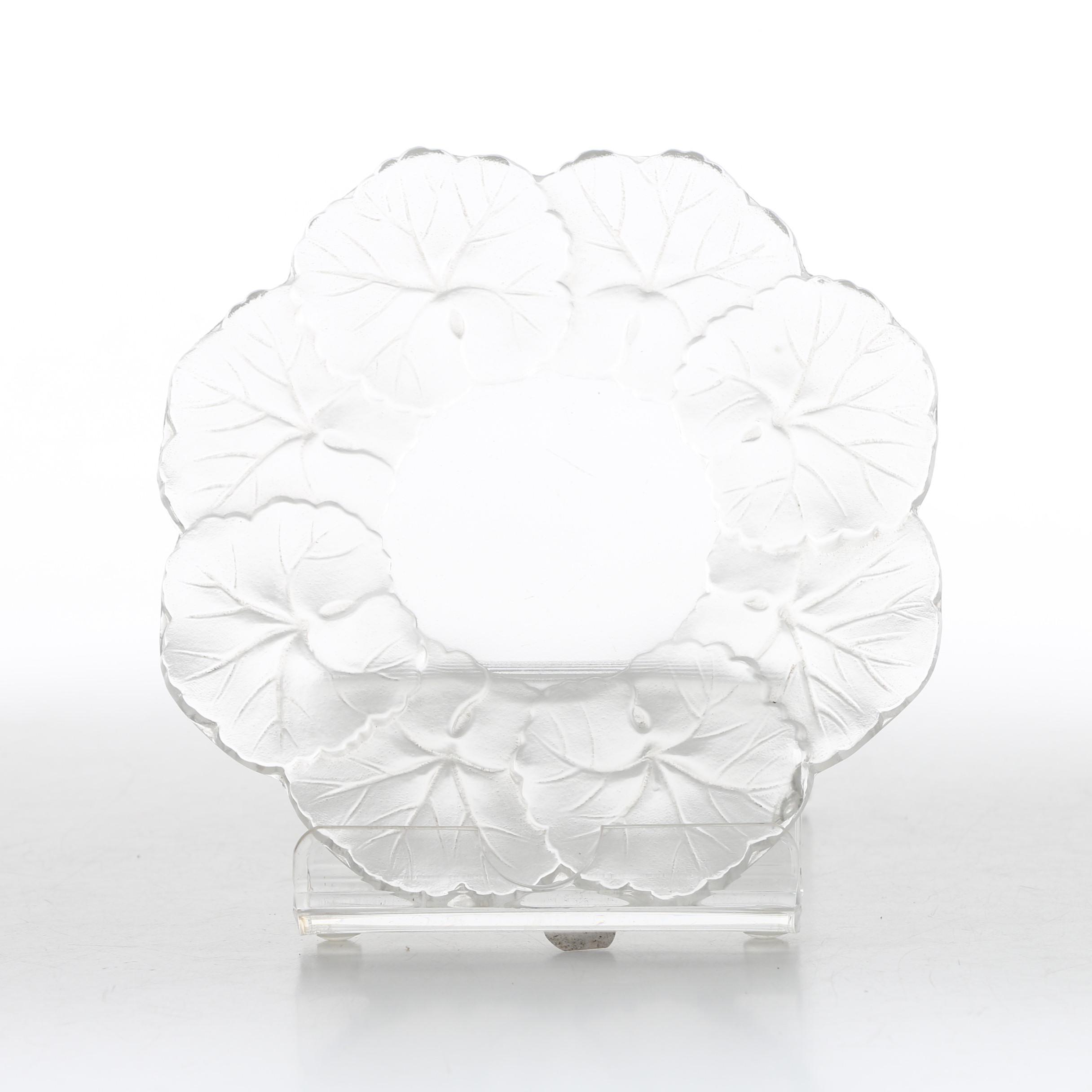 "Lalique ""Honfleur"" Crystal Underplate"