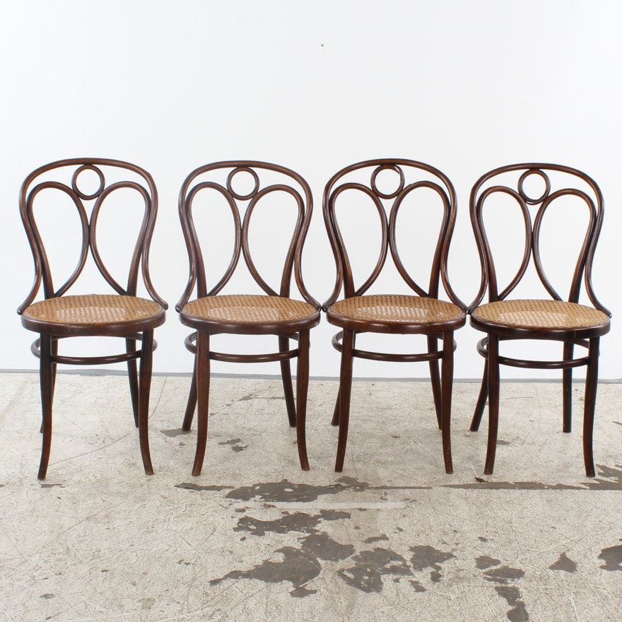 Fabulous Vintage Thonet No 14 Bentwood Dining Chairs With Caned Seats Gmtry Best Dining Table And Chair Ideas Images Gmtryco