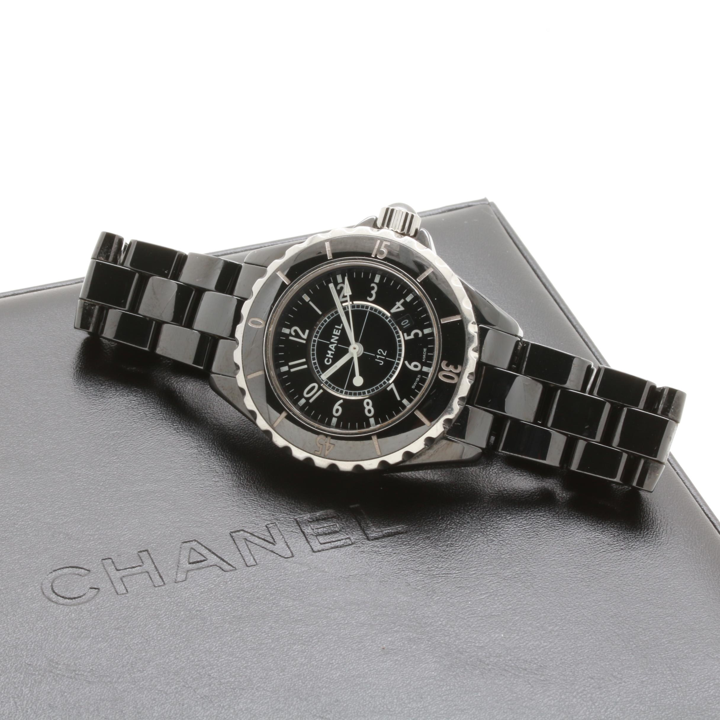 Chanel J12 Stainless Steel and Ceramic Wristwatch