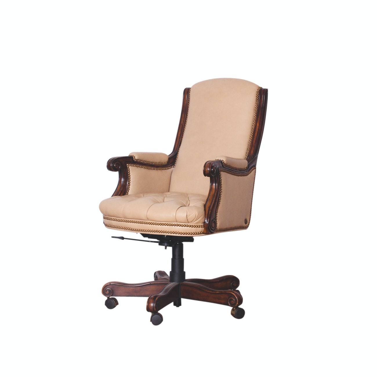 William-Sonoma Tufted Leather Executive Desk Chair