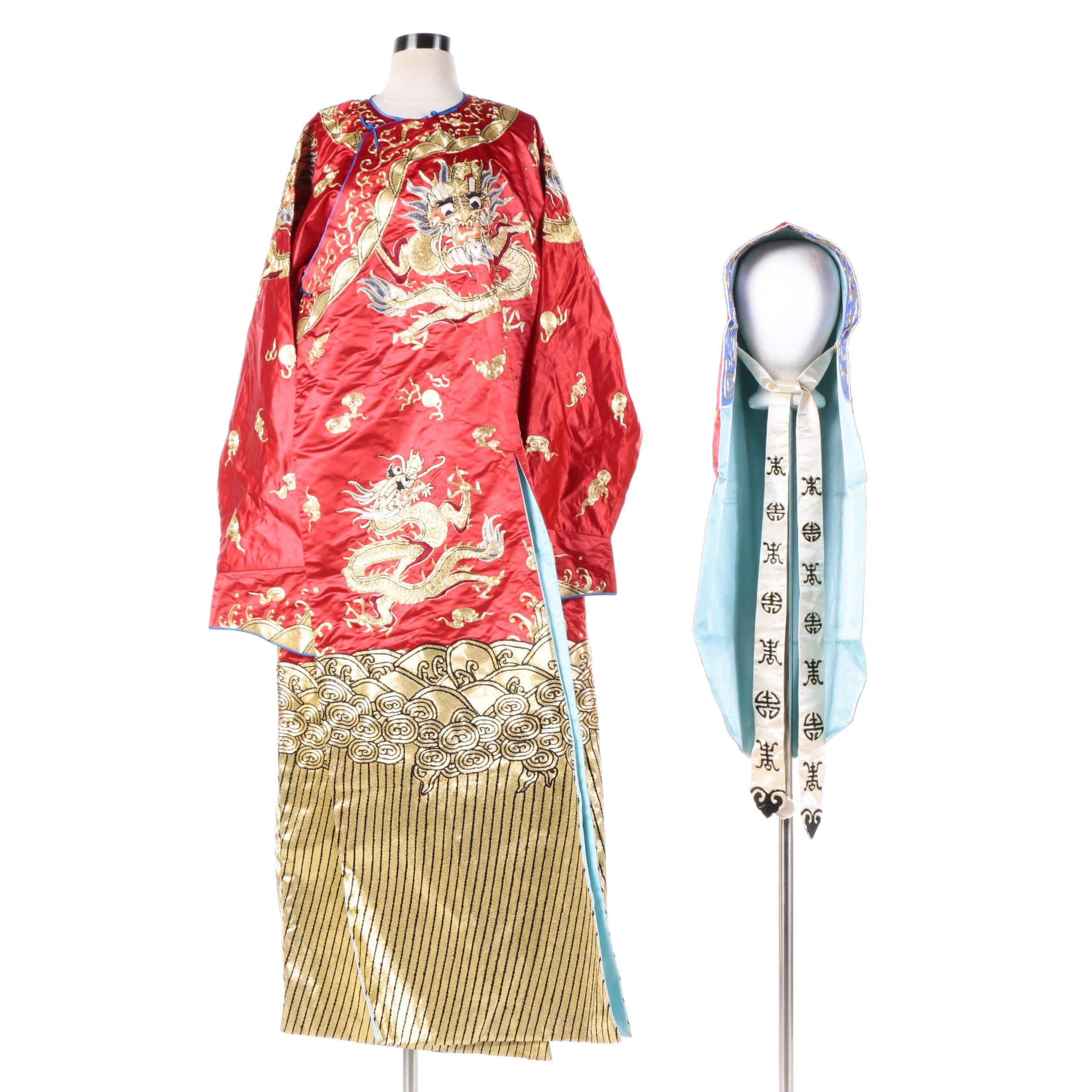 Contemporary Chinese Jifu Style Robe with Matching Hood