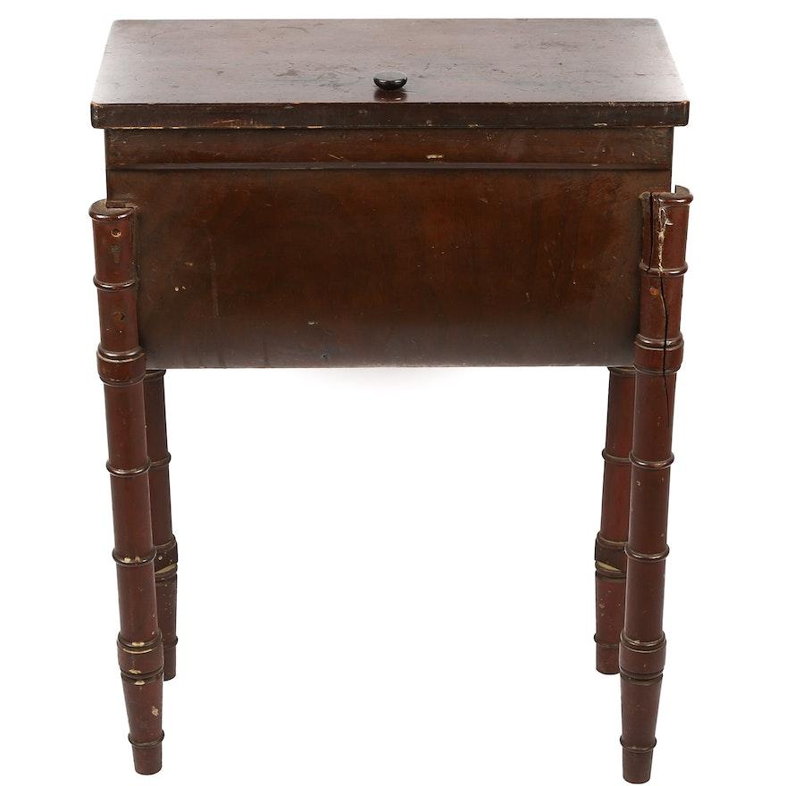 Antique Sewing Cabinet Ebth