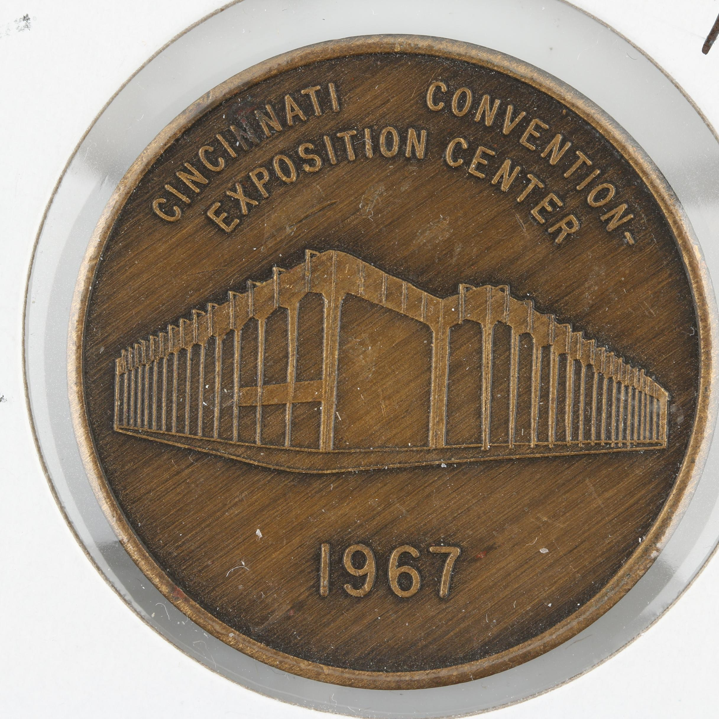 Bronze Medal Commemorating the 1967 Opening of the Cincinnati Convention Center