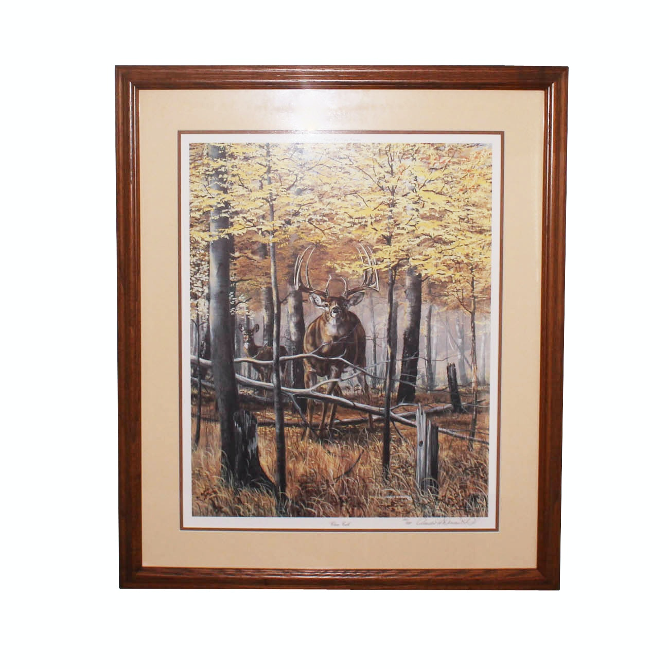 """Charles H. Denault Limited Edition Offset Lithograph """"Close Call"""""""