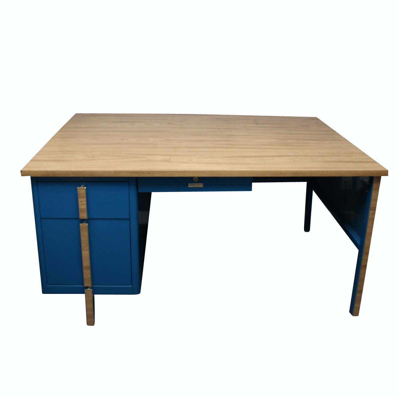 "Mid Century Modern Simmons ""Office Span"" Metal Desk"