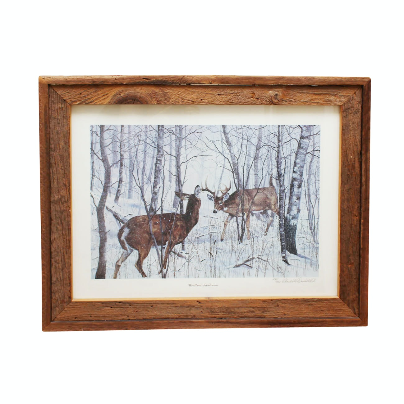 """Charles H. Denault Limited Edition Offset Lithograph """"Woodland Rendezvous"""""""