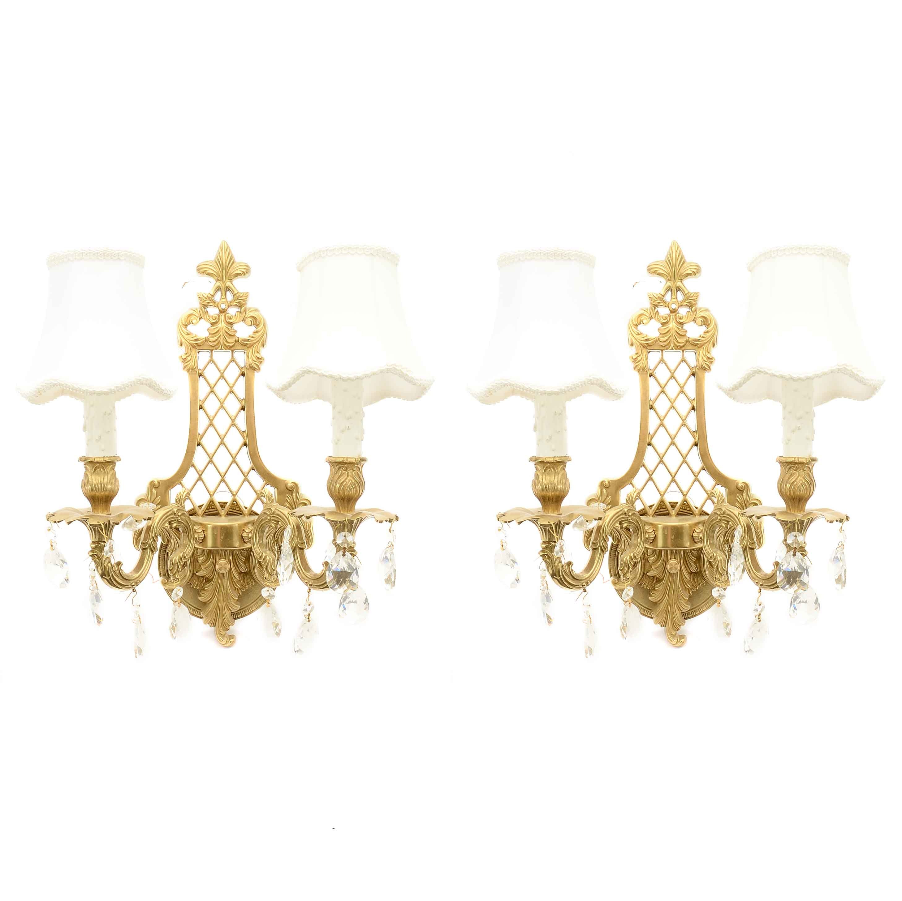 Pair of French Style Electric Wall Sconces