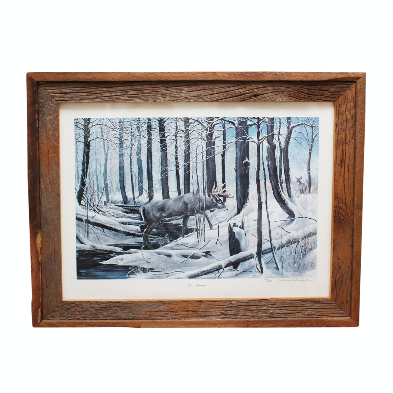 """Charles H. Denault Limited Edition Offset Lithograph """"Last Chance"""""""