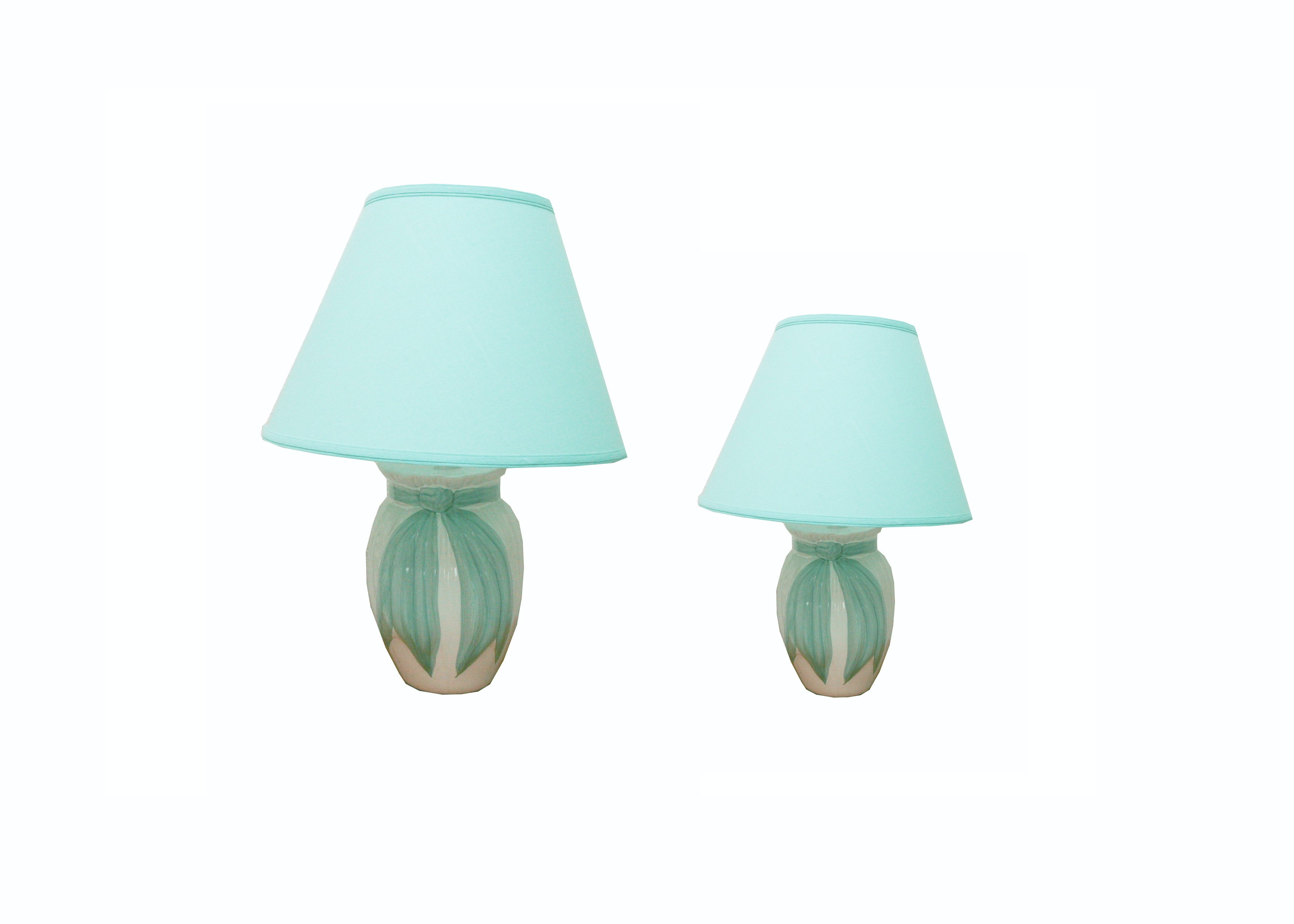 Matching Ceramic Table and Accent Lamps