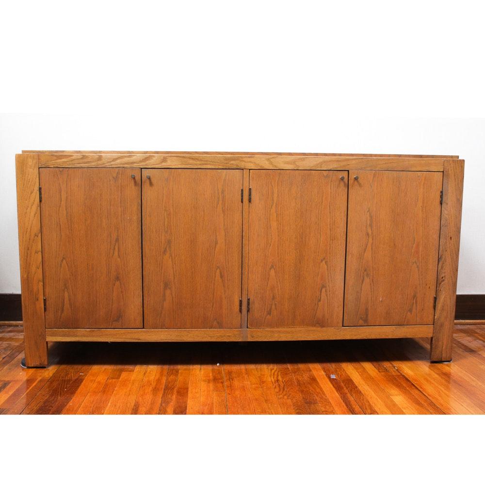 Vintage Oak Veneer Sideboard