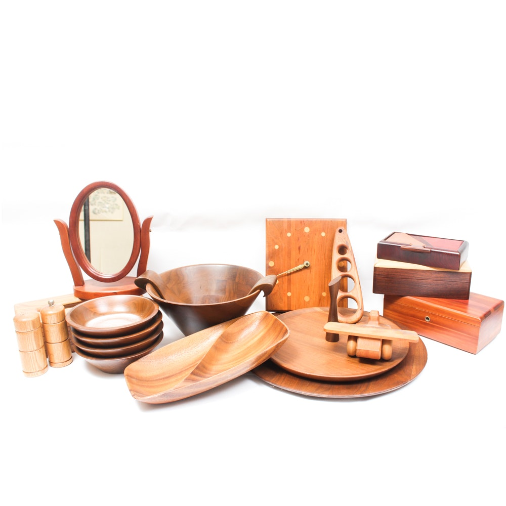 Carved Wood Home Accessories Featuring Lane and DID Ware