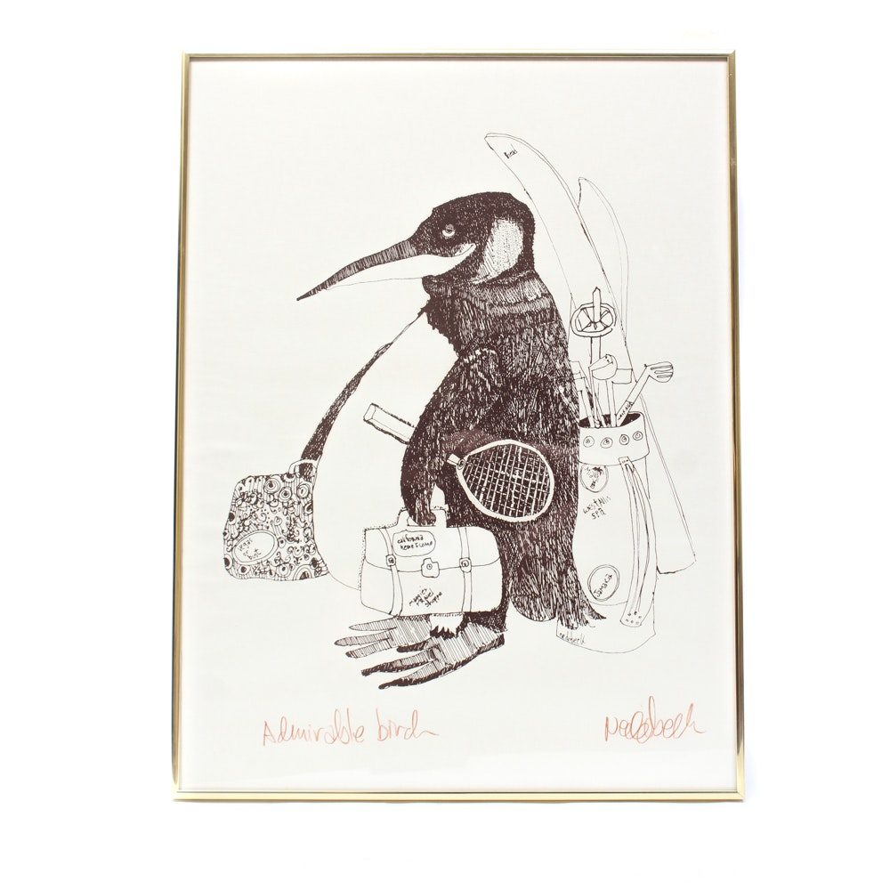 """Don Nedobeck Signed Lithograph Print """"Admirable Bird"""""""