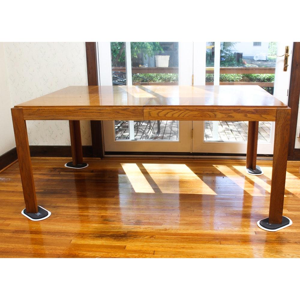 Vintage Oak Veneer Dining Table