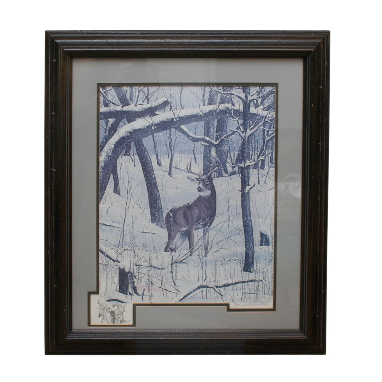 """Charles H. Denault Limited Edition Offset Lithograph """"Winter's Dusting"""""""