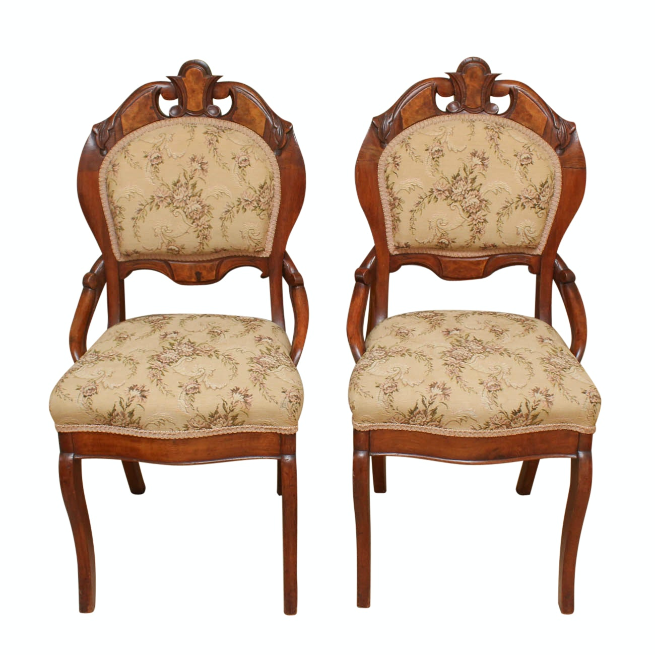 Antique Rococo Style Side Chairs