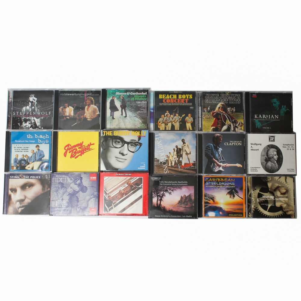 Rock and Classical Music CDs