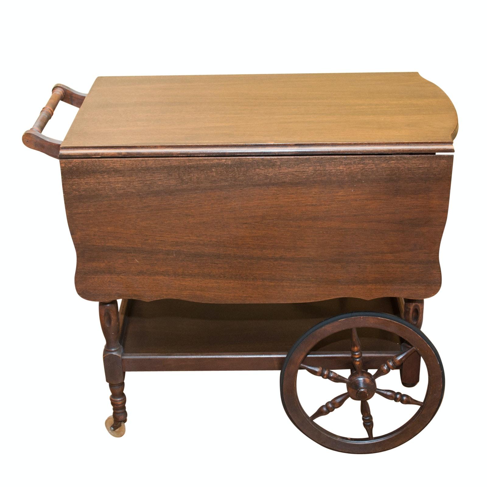 Vintage Drop-Leaf Tea Cart