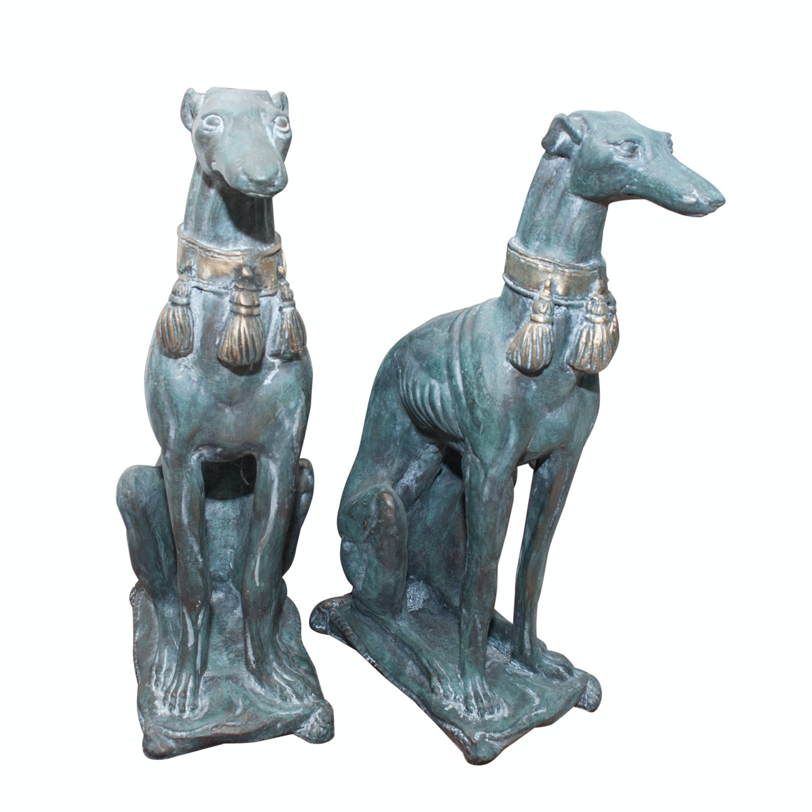 Pair of Greyhound Sculptures
