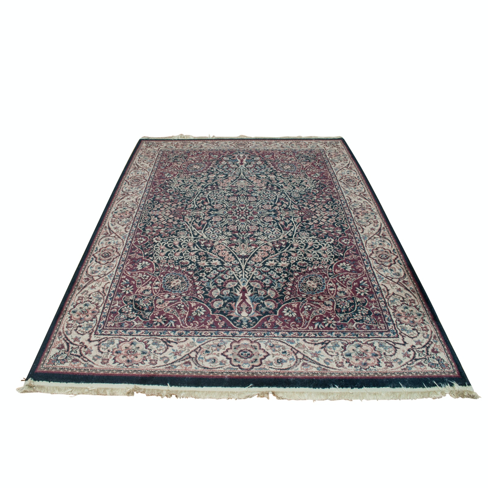 Machine Made Persian-Style Floral Area Rug